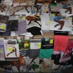 palette de 450 paires de collants, bas et mi bas