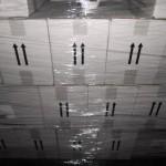 palette de 112 pièces de gel douche et shampoing 750 ml