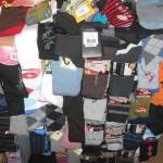lot de 1050 paires de chaussettes