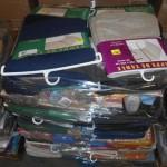 lot de 150 nappes, rideaux, draps, etc