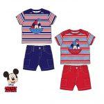 24 ensemble T Shirt + bermuda Mickey 3 mois à 24 mois 120 euros ht