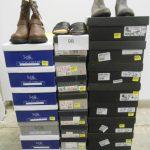 45 paires de chaussures avec boite de marques INITIALE PARIS, TRETORN etc ... - différentes pointures modèles couleurs