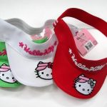 48 visières Hello Kitty 100% coton 3 couleurs