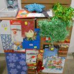 Palette de noel stickers, boules, cartes, petits sapins etc ...