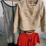 environ 150 pièces de textiles polos, vestes, robes etc de marques FREDA, COMME CA, CASUAL SPIRIT etc ...