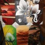 lot de 140 tableaux peint main