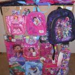 lot de 250 sacs, sacs à dos, portes monnaies etc … Violetta, Olaf, Sofia etc …