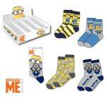 Display de 48 paires de chaussettes les Minions